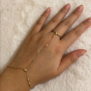 Henri Bendel Gold Ring Bracelet